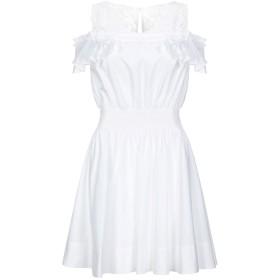《期間限定セール開催中!》PINKO レディース ミニワンピース&ドレス ホワイト 40 コットン 98% / ポリウレタン 2%