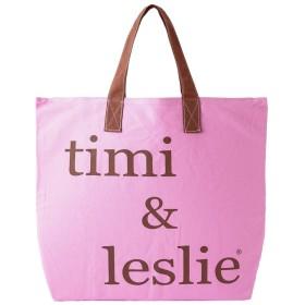 ティミ&レスリー timi&leslie トートバッグ ロゴバッグ キャンバスバッグ (カラー:BERRY) [並行輸入品]