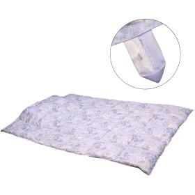 奈良シルク(Nara-silk) 肌掛け布団 シングル 洗える 抗菌 防臭 防ダニ ほこりの出にくい 吸湿・放湿性に優れ 爽やかな寝心地 肌掛けふとん 150x210cm 花柄 (ブルー シングル)