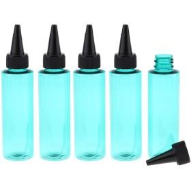 詰め替えボトル 小分け容器 空ボトル プラスチック 香水 精油 液体 保存用 ポータブル 5個 全7色 - 緑