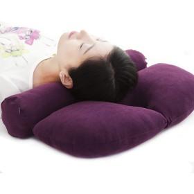 ストレートネック 矯正枕 頸椎サポート 首用クッション 円柱 ネックフィット枕 仰向け 横寝 まくら 首こり 肩こり対策 頭痛改善 疲れ解消 多機能U型竹炭枕 直径10cm 紫色 パープル