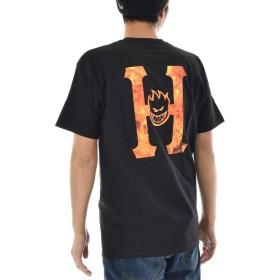HUF ハフ Tシャツ ハフ×スピットファイア スピットファイヤ スピットファイアー フレイミング H 半袖Tシャツ (L)
