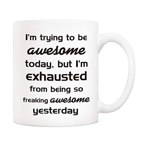 5Aup Christmas Gifts Funny Coffee Mug 11Oz Novelty Ceramic Cups IT TOOK ME 40 YEARS TO LOOK THIS GOOD Unique Birthday and Holiday Gifts for Women Men