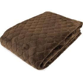 ふかふか扁平フランネル 敷きパッド シングル 100×205cm チョコブラウン色 洗濯機で丸洗いOK 冬用寝具