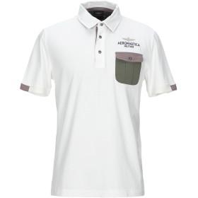 《セール開催中》AERONAUTICA MILITARE メンズ ポロシャツ ホワイト L コットン 100%