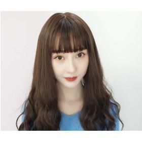 かつら、チョコレート色熱安全性合成髪レースフロントかつらまともな別れスペース透明レース用白または薄い頭皮 (色 : Cold brown)