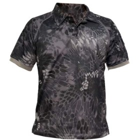 BWOLF 速乾性 襟付 ハイパフォーマンス ポロシャツ Tシャツ 半袖 Typhonタイプ タイフォン迷彩 (M)