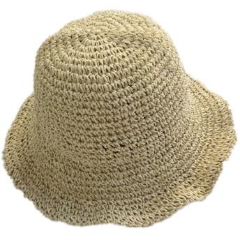 (ドウゲイ)TongYi レディース 女性用 UVカット帽子 遮光ハット ネックカバー コットン100% サイズ調節 つば広 uvカット帽子 春夏 レディース 自転車 旅行 (ベージュ)