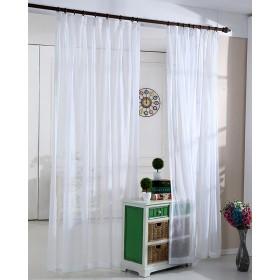WPKIRA 純粋なカラースカーテン透けない UVカット薄手 のカーテン おしゃれ 自然に 換気 半遮光 窓 部屋 寝室 マルチカラーソリッドチュールカーテンドア 子どものカーテン 洗濯可能 1組2枚入片幅 幅100cm×丈230cm(2枚入)