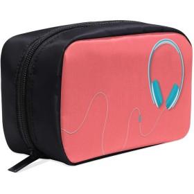 KWESG メイクポーチ イヤホン ボックス コスメ収納 化粧品収納ケース 大容量 収納 化粧品入れ 化粧バッグ 旅行用 メイクブラシバッグ 化粧箱 持ち運び便利 プロ用