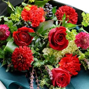 花束 スタイリッシュなフラワーギフト カルマンドレス-画像配信サービス付き-