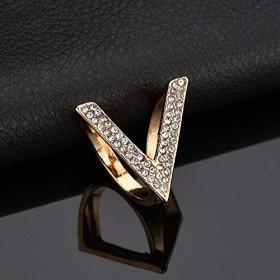 Yan V字型シルクスカーフバックルゴールドメッキウォータードリルブローチ (色 : Gold)