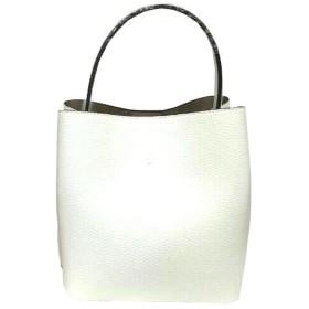 柔らか素材のダブルポケット2wayトート【Sサイズ】 アイボリー