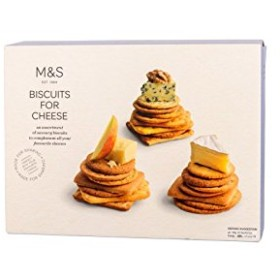 (Marks & Spencer (マークス&スペンサー)) チーズ300グラムのためのビスケット (x2) - Marks & Spencer Biscuits For Cheese 300g (Pack of 2) [並行輸入品]