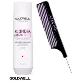 Goldwell Dualsenses金髪そして(なめらかなスチールピンテールくし付き)ハイライトアンチ黄シャンプー 10.1オンス/ 300ミリリットル