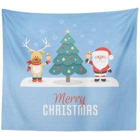(プタス)Putars クリスマス タペストリー ビーチマット 壁掛け テーブルクロス MERRY CHRISTMAS 個性的 可愛い オシャレ ヨガマット レジャーシート ビーチ用ブランケット インテリア 91