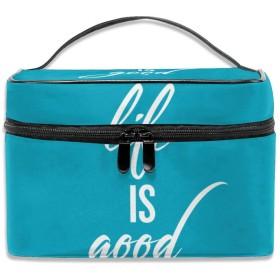 ポジティブライフ 化粧ポーチ メイクポーチ コスメバッグ 収納 雑貨大容量 小物入れ 旅行用