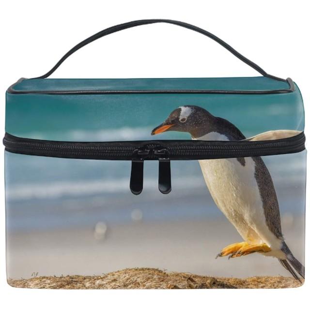 メイクポーチ ボックス 小物入れ 仕切り 旅行 出張 持ち運び便利 コンパクトペンギン