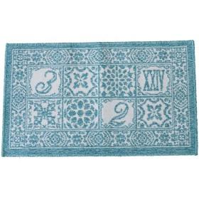 スミノエ カランバン織  ラグ サレ 45×75cm ブルー