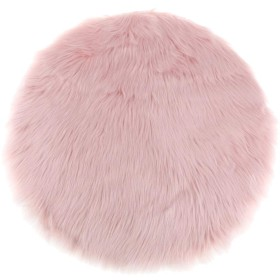 座布団カバー椅子カバー ラウンド チェアカバー ポリエステル製 取り付け簡単 柔らかい 全8色4サイズ - ピンク, 直径30cm