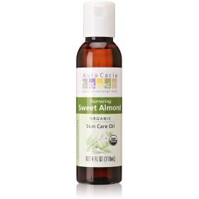 Aura Cacia Organics Organic Sweet Almond Oil 120 ml (並行輸入品)