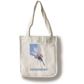 Stylized Skier – Killington、バーモント州 Canvas Tote Bag LANT-25914-TT