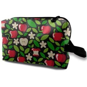 赤いりんご 化粧バッグ 収納袋 女大容量 化粧品クラッチバッグ 収納 軽量 ウィンドジップ