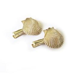 3個セット貝殻ヘアクリップ ゴールドカラー ヘアアクセサリー