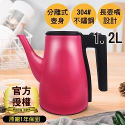 G+ 居家 MIT 不鏽鋼 摩登熱水壺/電茶壺(1.2L)