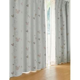 [ベルメゾン] ディズニー カーテン 遮光 洗える ベージュ 約100×90(2枚)