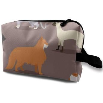 かわいい猫 化粧バッグ 収納袋 女大容量 化粧品クラッチバッグ 収納 軽量 ウィンドジップ