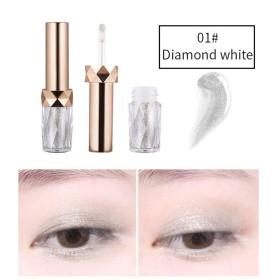 Cutelove リキッドアイシャドウ ダイヤモンドのような煌めき 日常でも使える 上品 ロングラスティング Diamond White