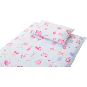 エムール 日本製 綿100% 女の子 子ども向け 敷き布団カバー ジュニアサイズ 『オズガール』 ブルー