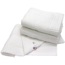 hiorie(ヒオリエ) 今治タオル 認定 Earth アース フェイスタオル 3枚セット オフホワイト 日本製 高密度織り 今治ブランド