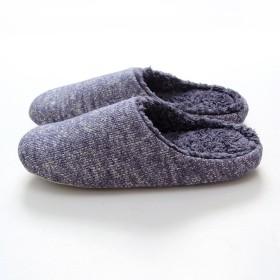 Doremyあったかスリッパ 秋冬用 暖かい ルームシューズ 洗える もこもこ 室内履き 滑り止め しゃれ レディース メンズ 防寒あ 静音で通気 編み物 可愛い カップル用 (男性用, 青)