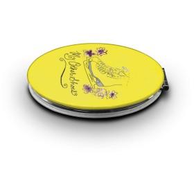 化粧鏡 フィギュアスケート 両面化粧鏡 コンパクトミラー 手鏡角度調整 折り畳み 丸型 おしゃれ ハンド 携帯ミラー 旅行ミラー 女優ミラー 持ち運び便利