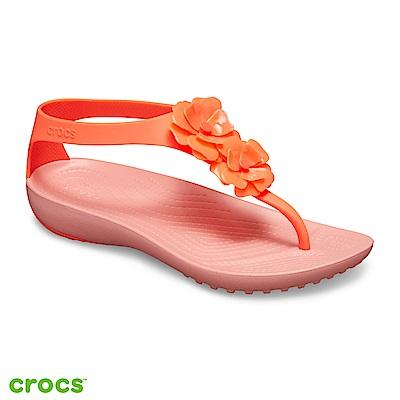 Crocs 卡駱馳 (女鞋) 瑟琳娜女士花朵人字涼鞋 205600-6PT