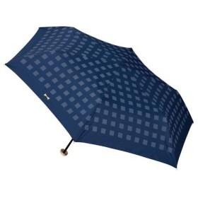 w.p.c 晴雨兼用日傘 折りたたみ傘 遮光チェックリボンmini 801−560 ネイビー