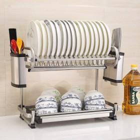 食器乾燥ラック シンク上ディスプレイスタンド 水切り ステンレススチール キッチン用品 収納棚 キッチン用品 ストレージラックステンレススチール (Size : 44cm)