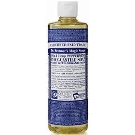 のブロナー有機ペパーミントカスティーリャ液体石鹸237ミリリットル x4 - Dr Bronner Organic Peppermint Castile Liquid Soap 237ml (Pack of 4) [並行輸入品]