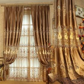 OSONA 花 刺繍 レース 欧式 透し彫り 高級 インタリア セミオーダー カスタマイズ おしゃれ 遮光カーテン 寝室飾り 客間飾り ミラーレース シンプル レースカーテン UVカット 仕切 花柄 二色 8サイズ