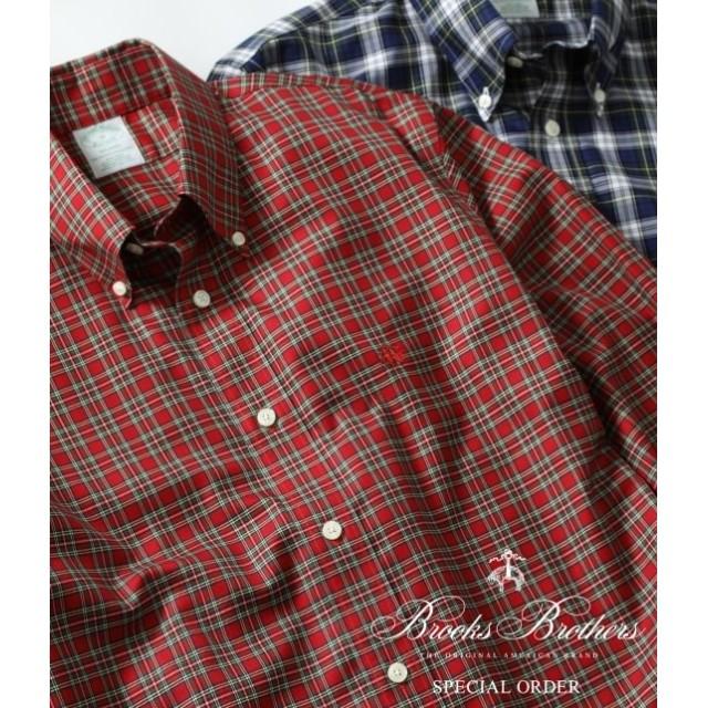 アダム エ ロペ オム/Brooks Brothers SPECIAL ORDER for ADAM ET ROPE'/チェック ボタンダウンシャツ Milano Fit/レッド/XS