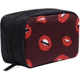 GGSXD メイクポーチ 唇のグラフィック ボックス コスメ収納 化粧品収納ケース 大容量 収納 化粧品入れ 化粧バッグ 旅行用 メイクブラシバッグ 化粧箱 持ち運び便利 プロ用