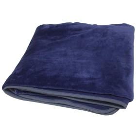 フランネル掛け布団カバー シングル 冬用カバーあったか2枚合わせ毛布にもなる2WAY 無地でシンプル 布団ズレ防止のヒモ8箇所 羽毛布団カバーにも ふとんカバー 掛けカバー 洗える (『フランネル暖か布団カバー』, シングルロング・紺色)