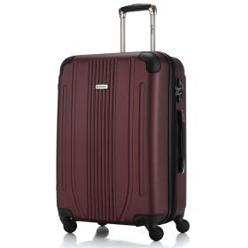 [BB-Monsters ビービーモンスターズ] スーツケース 軽量 ファスナータイプ 4サイズ キャリーケース Flower Fairy (小型、S、20, バーガンディー)