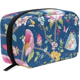 CW-Story 花の型 化粧ポーチ 化粧バッグ メイクボックス 収納ケース メイクブラシバッグ トイレタリーバッグ プロ用 小物入れ 化粧道具 大容量 旅行用