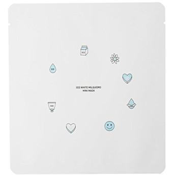 3CE WHITE MILQUIDRO MINI MASK 3ea / スリーコンセプトアイズ ホワイトミルキードロミニマスク 3ea [並行輸入品]