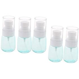 プラスチックスプレーボトル 美容水コンテナ 化粧水スプレー ミストスプレーコンテナ スプレー 5個 - クリアブルー