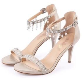 candy88レディース ハイヒールサンダル靴 セクシーリベット ハイヒールの靴 サンダル ビジネス デート オシャレデザイン (36(23cm), ゴールド)