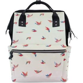 ママリュック 鳥 飛び かわいい ミイラバッグ デイパック レディース 大容量 多機能 旅行用 看護バッグ 耐久性 防水 収納 調整可能 リュックサック 男女兼用